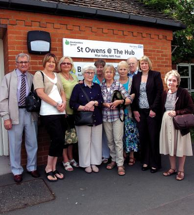 Parents, carers and councillors attend a meeting about the future of St Owen's Centre in Portfields, Hereford.