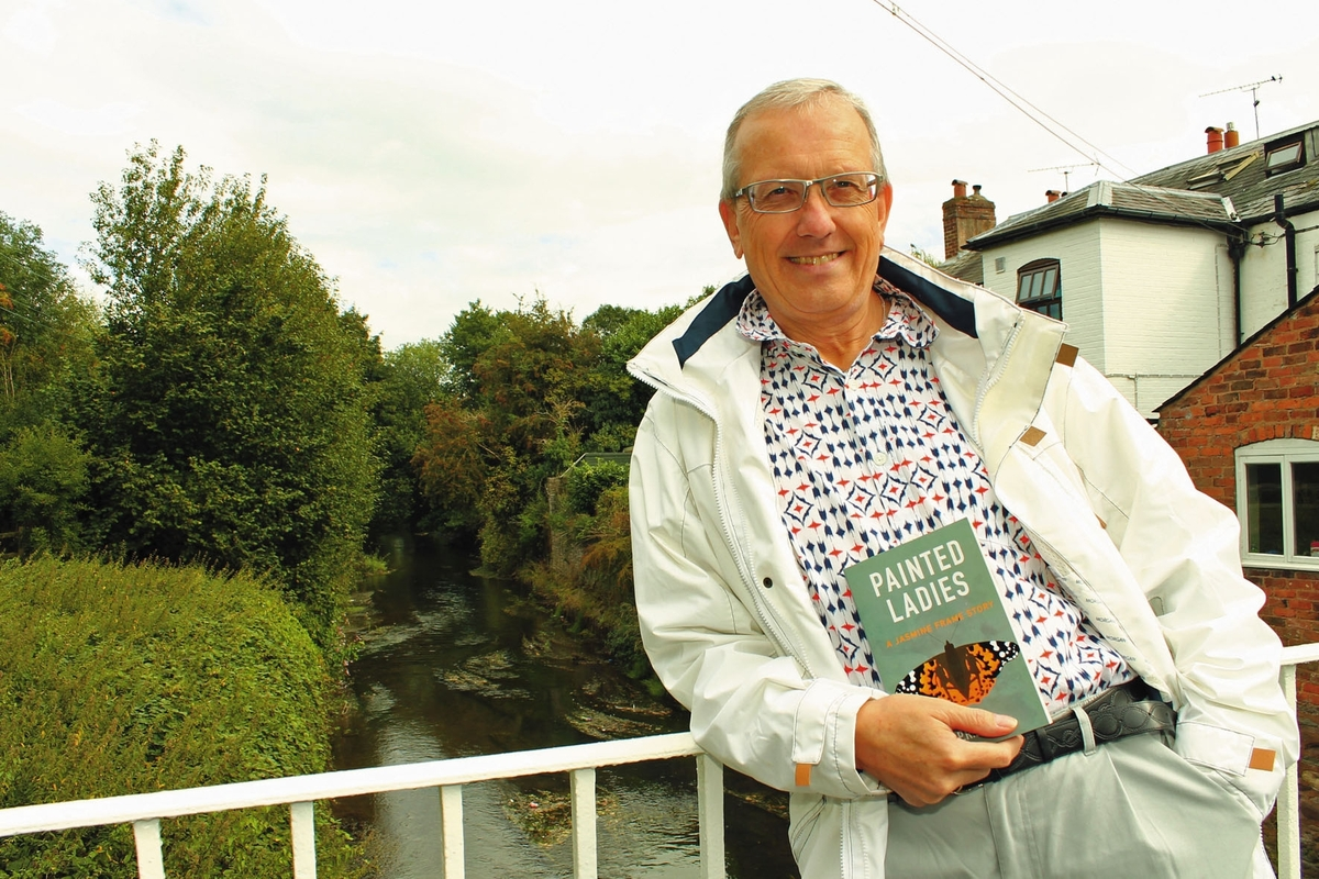 Peter Ellis with his first crime thriller Painted Ladies. Picture by Mark Bowen.