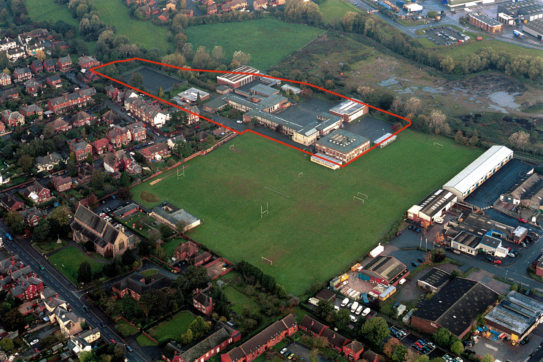 Former site of Hereford's Whitecross High School - sale of the site was supposed to ease contract costs of the new school