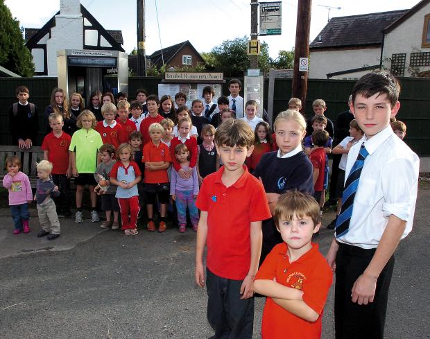 Ledbury Reporter: Pupils such as these, from Brimfield and Orleton, may have to reconsider where they go to secondary school.