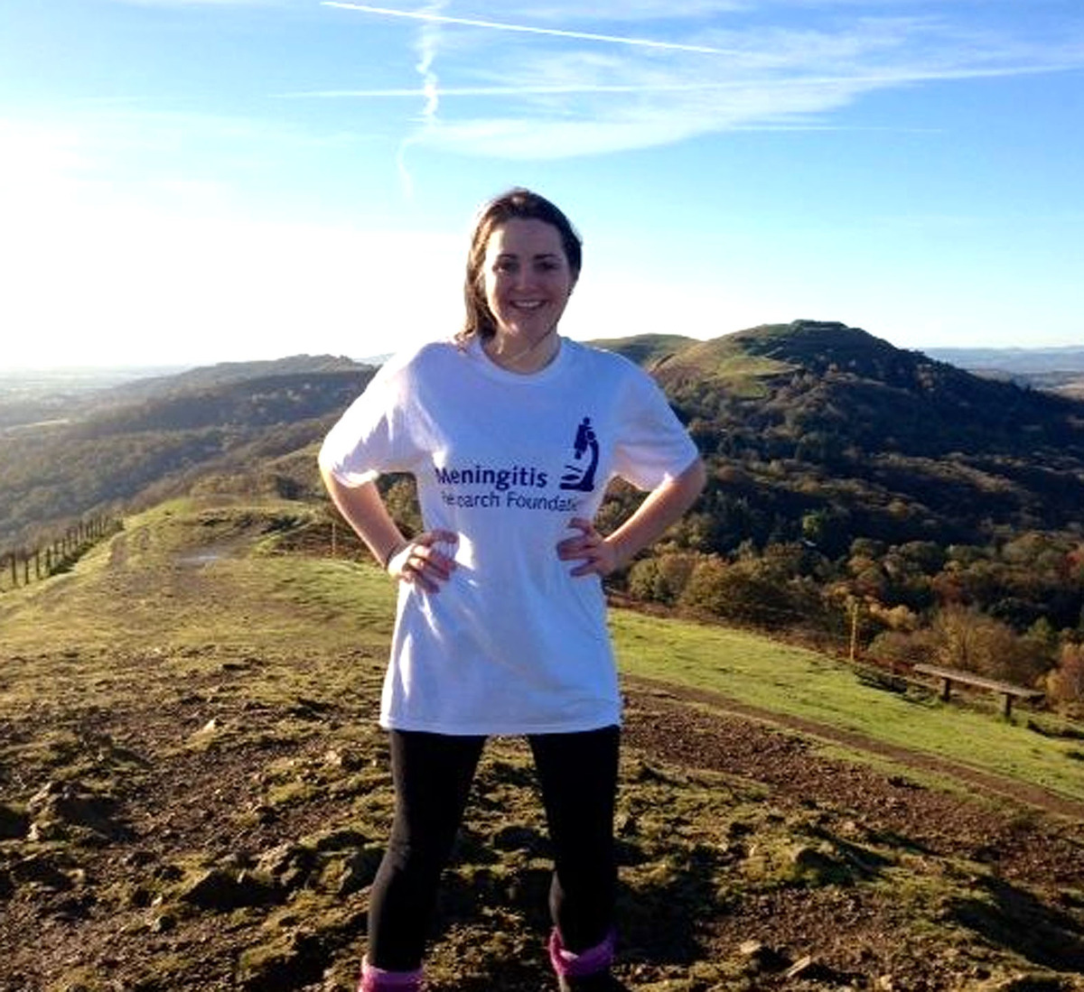 TREKKING: Student Cathering Okey is set to tackle terrain more challenging than the Malvern Hills in aid of meningitis research.