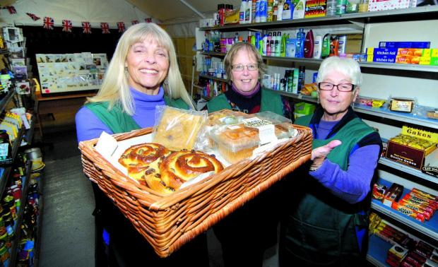 Ledbury Reporter: The shop is ready for the visit.