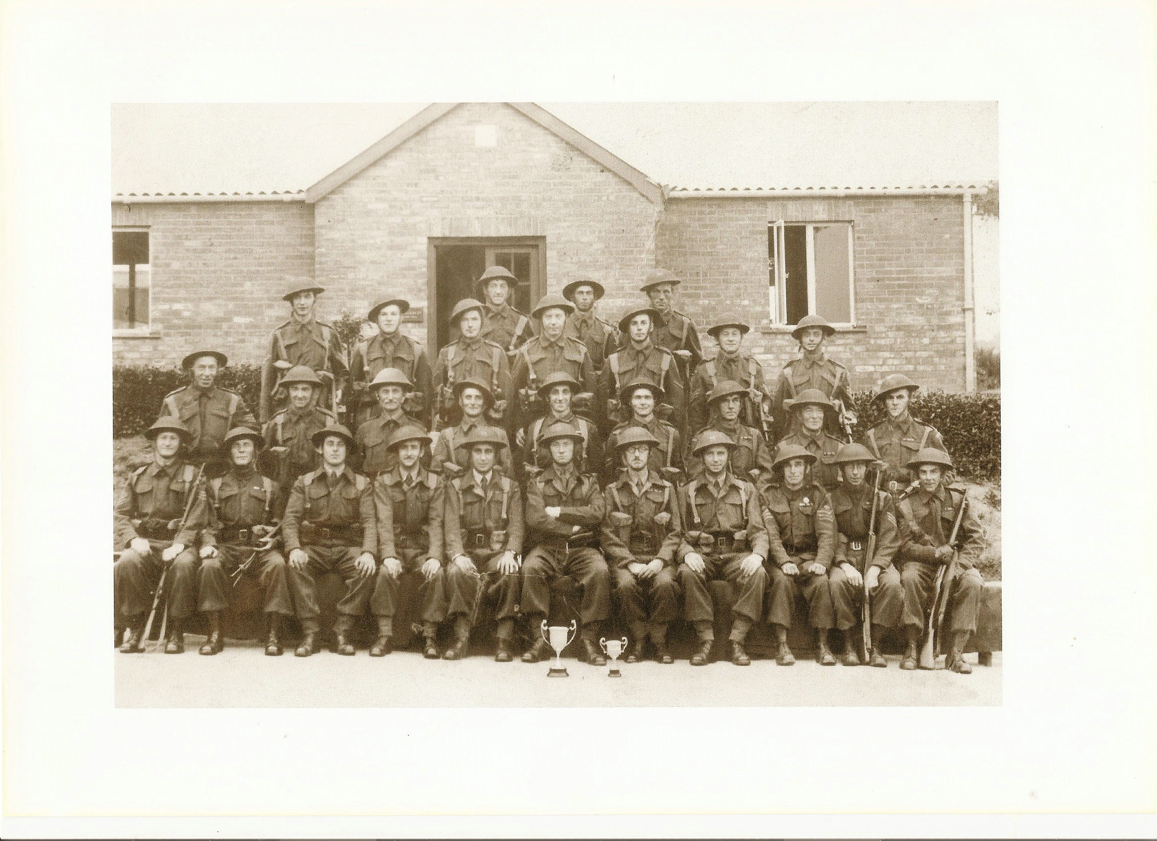 The photograph of the Dinedor Home Guard, believed to have been taken in the 1940s.
