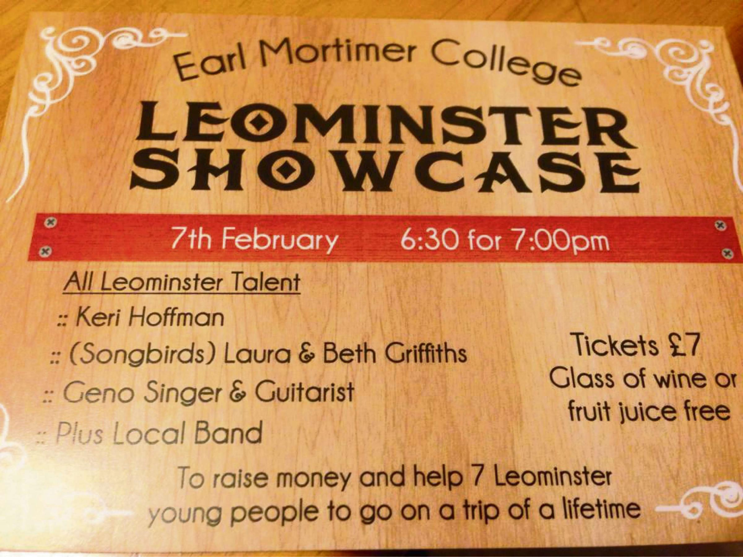 The Leominster Showcase will take place next month and will help seven youngsters to take the trip of a lifetime.