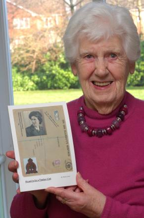 Marion Jones, 94, has written a book about her experiences working for the Timber Corps during the Second World War.Picture: James Maggs.