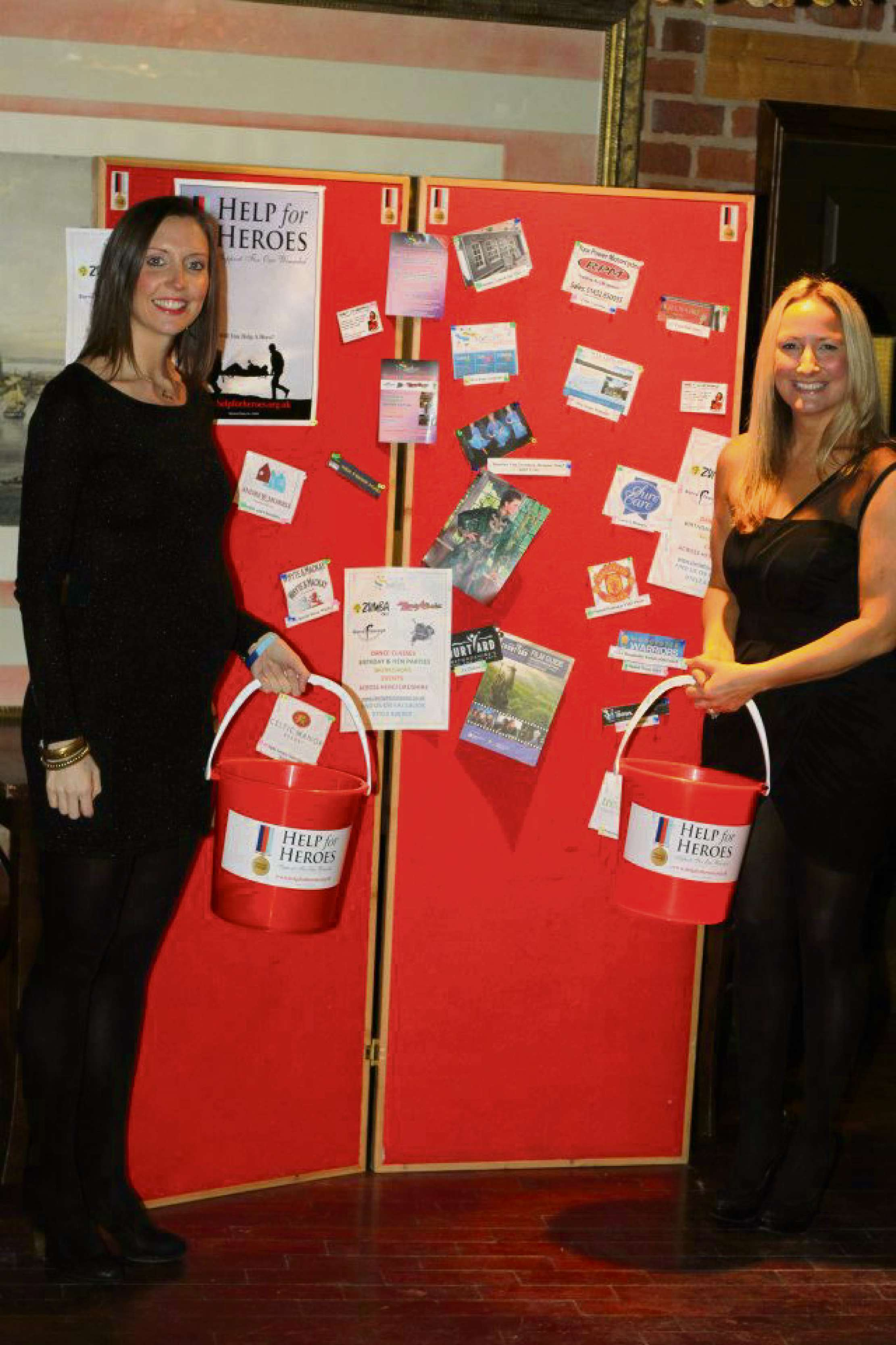(l-r) Rebecca White and Vicky Lightowler of The Starlight Company at last year's event, where they raised £1,000.