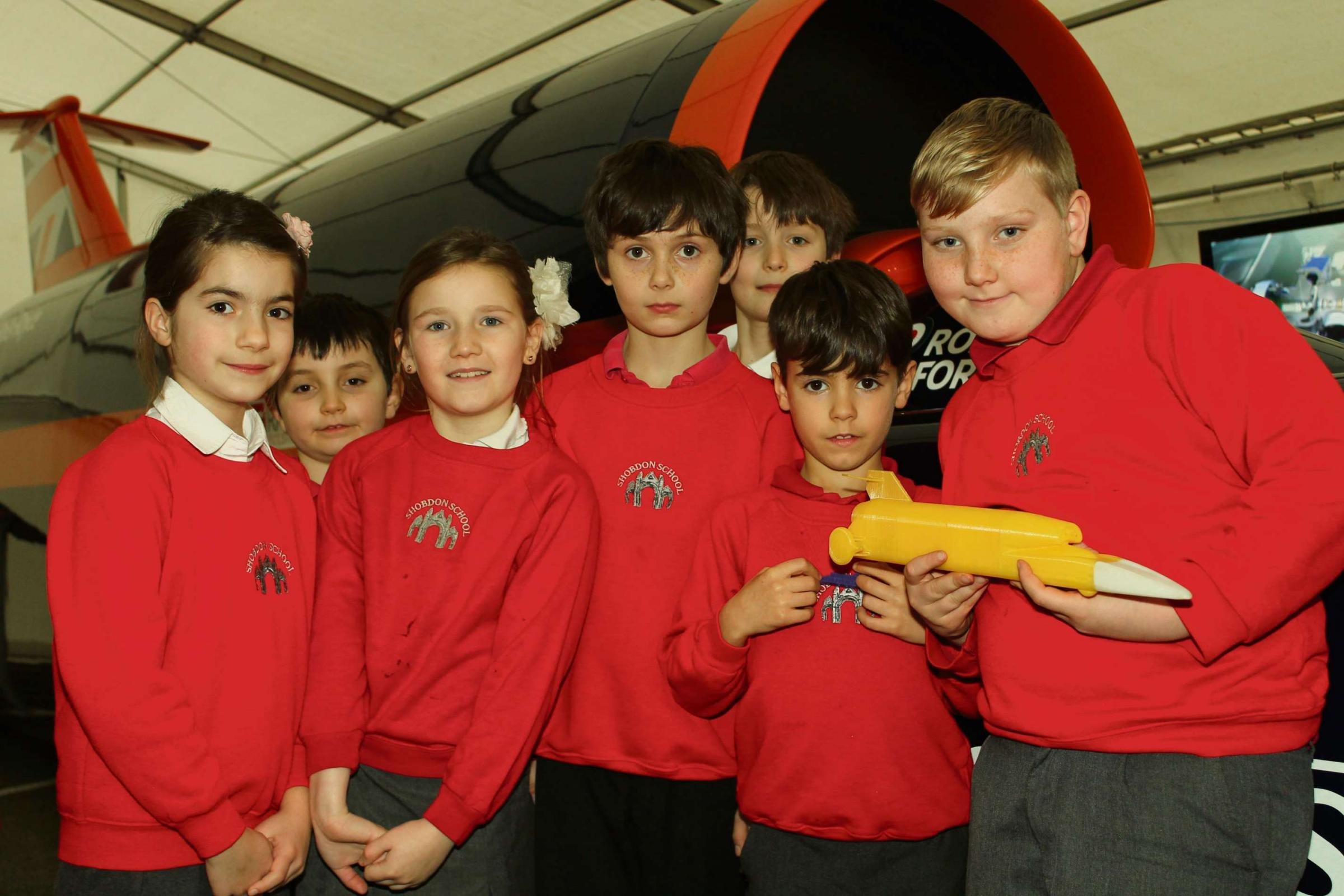 County pupils sniff out some scientific facts when Britain's Bloodhound land speed record car comes to town