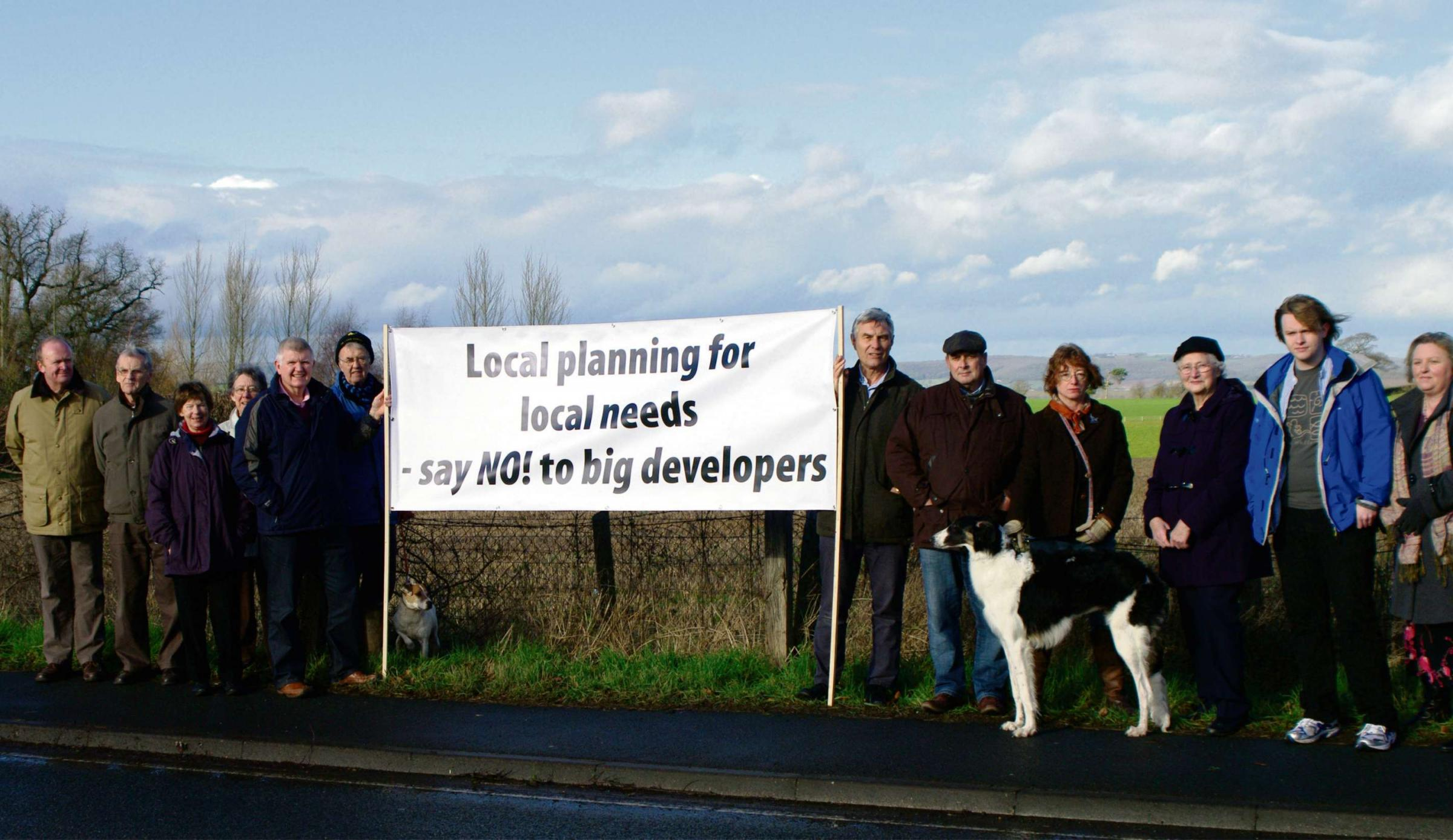 Residents protest against another housing proposal in Bartestree