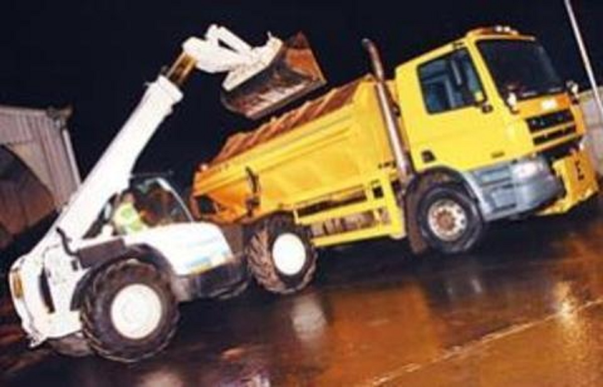 Gritters on the road in Worcestershire tonight