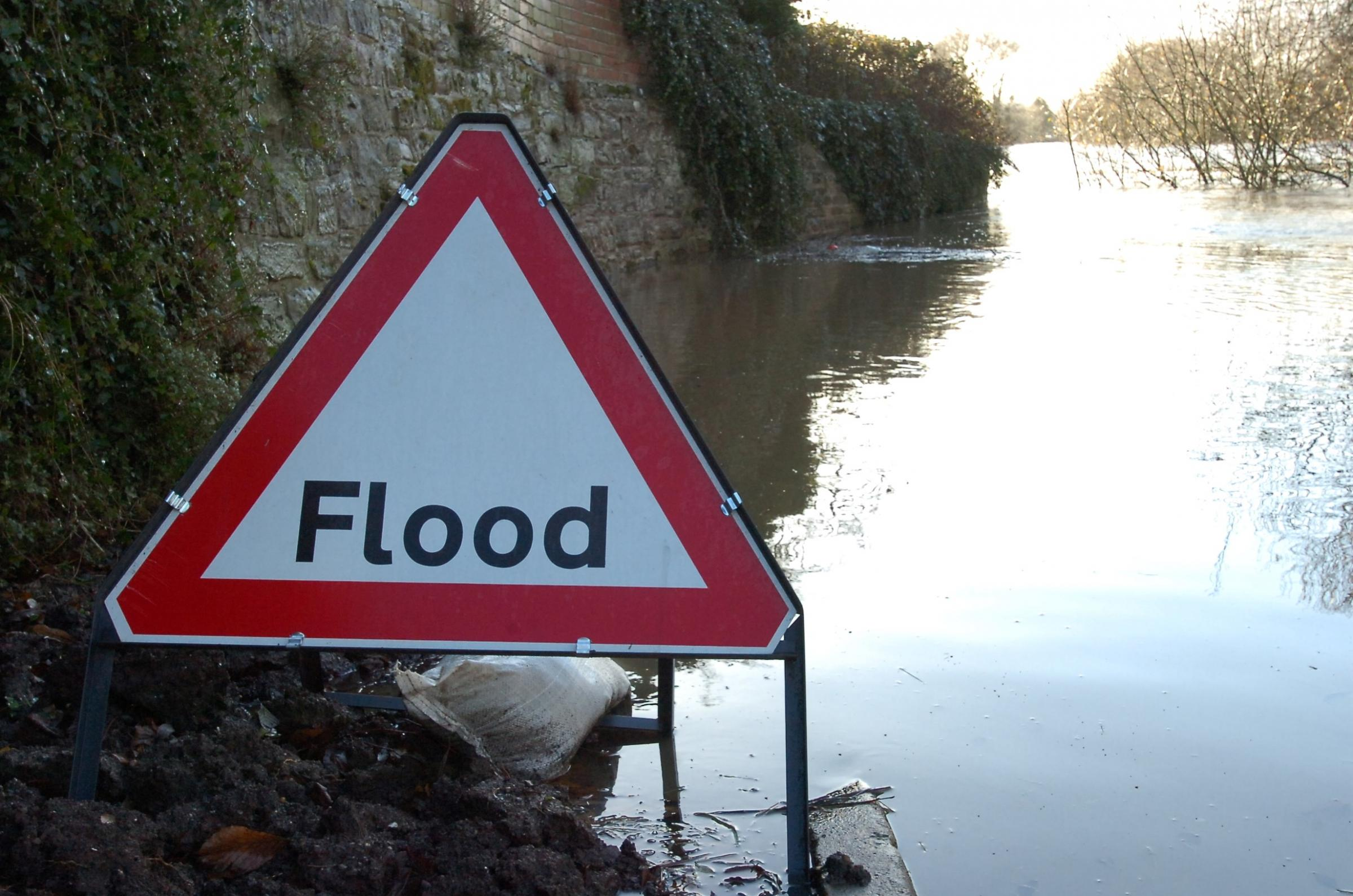 Several roads in the county have been affected by flooding today.