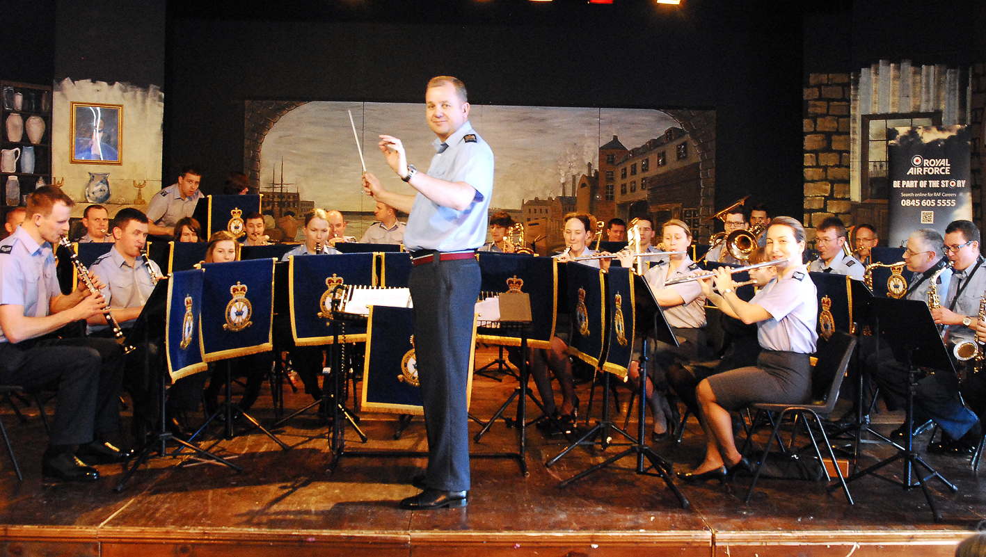 The Central RAF band performed for students at the Queen Elizabeth Humanities College in Bromyard.Picture: David Griffiths, Eye Contact Media.