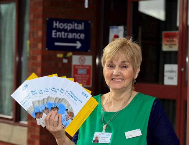 Ann Popplewell is volunteering to gathering patient feedback at Bromyard Community Hospital.