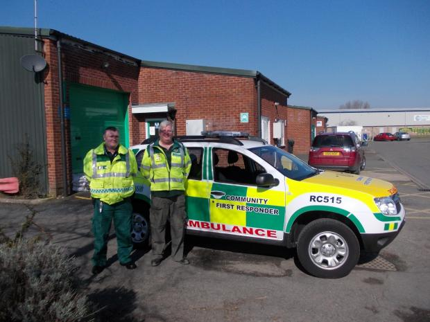 Karl Griffiths and Bob Miles with the new CFR car.