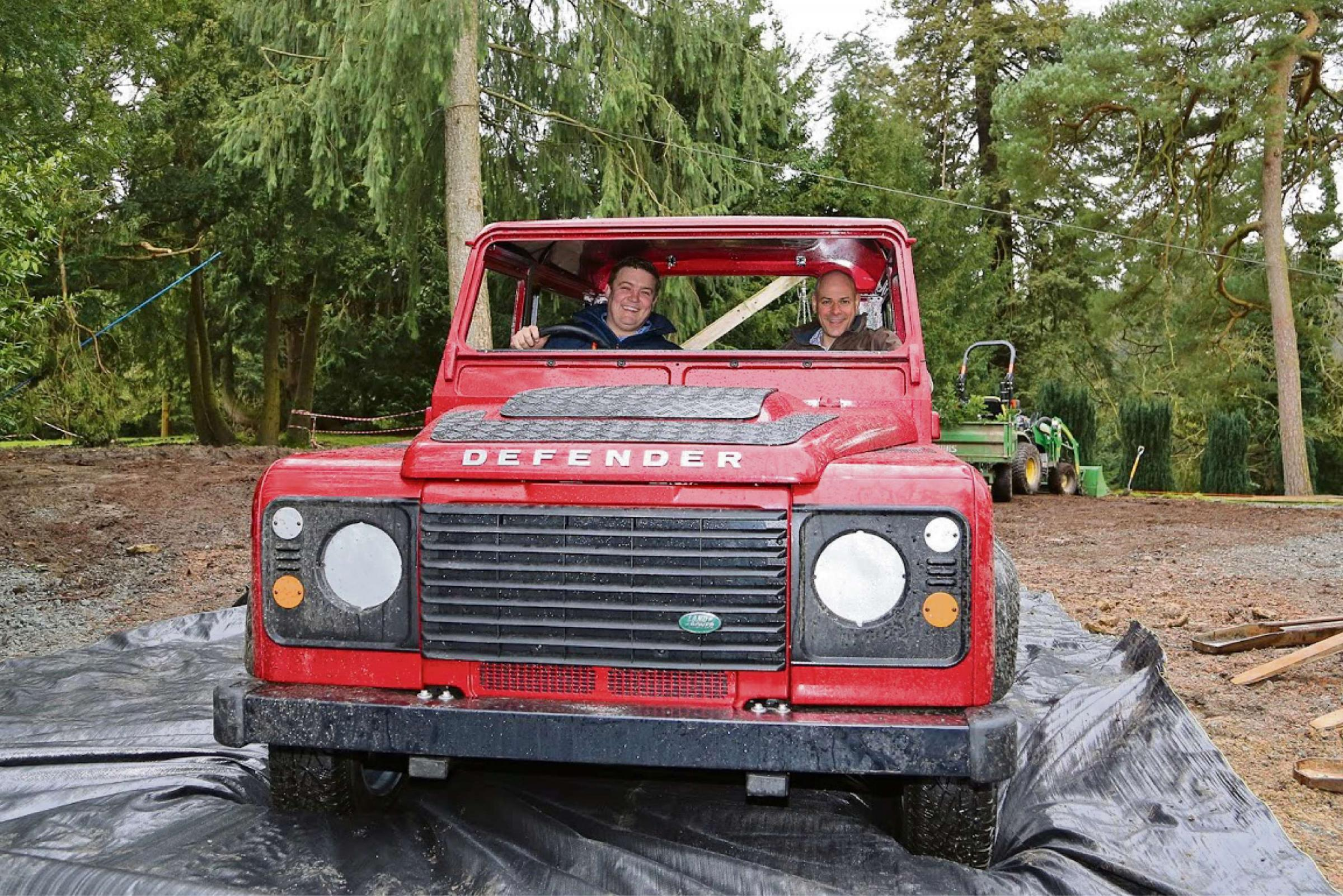 Land Rover parks up as fun addition to Eastnor Castle playground