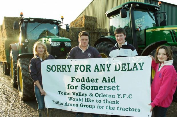 Olivia Smith, secretary of Orleton YFC, Noah Barber, of Orleton YFC, Henry Thorpe, of Teme Valley YFC and Vida Thorpe, of Teme Valley YFC.