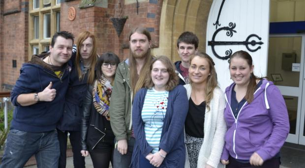 HCA students who will be running the Matchbox, (left to right) Si Clarke, Karl Bembridge, Gemma Goode, Jake Pearce, Jess Clayton, Reece Hyatt, Jodie Palmer and Amy Pallant.