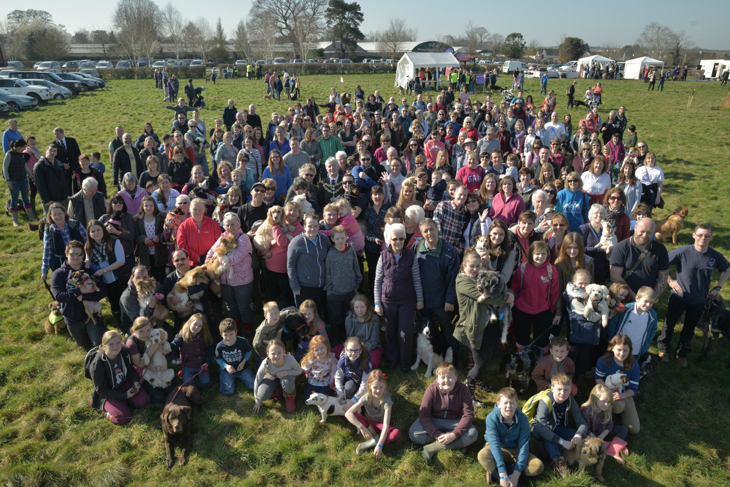 More than 250 people - and their dogs - took part in the Wags and Wellies dog walk in aid of St Michael's Hospice.