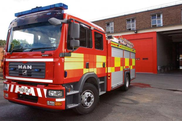 Fire crews extinguished the wood burner fire in Longtown.