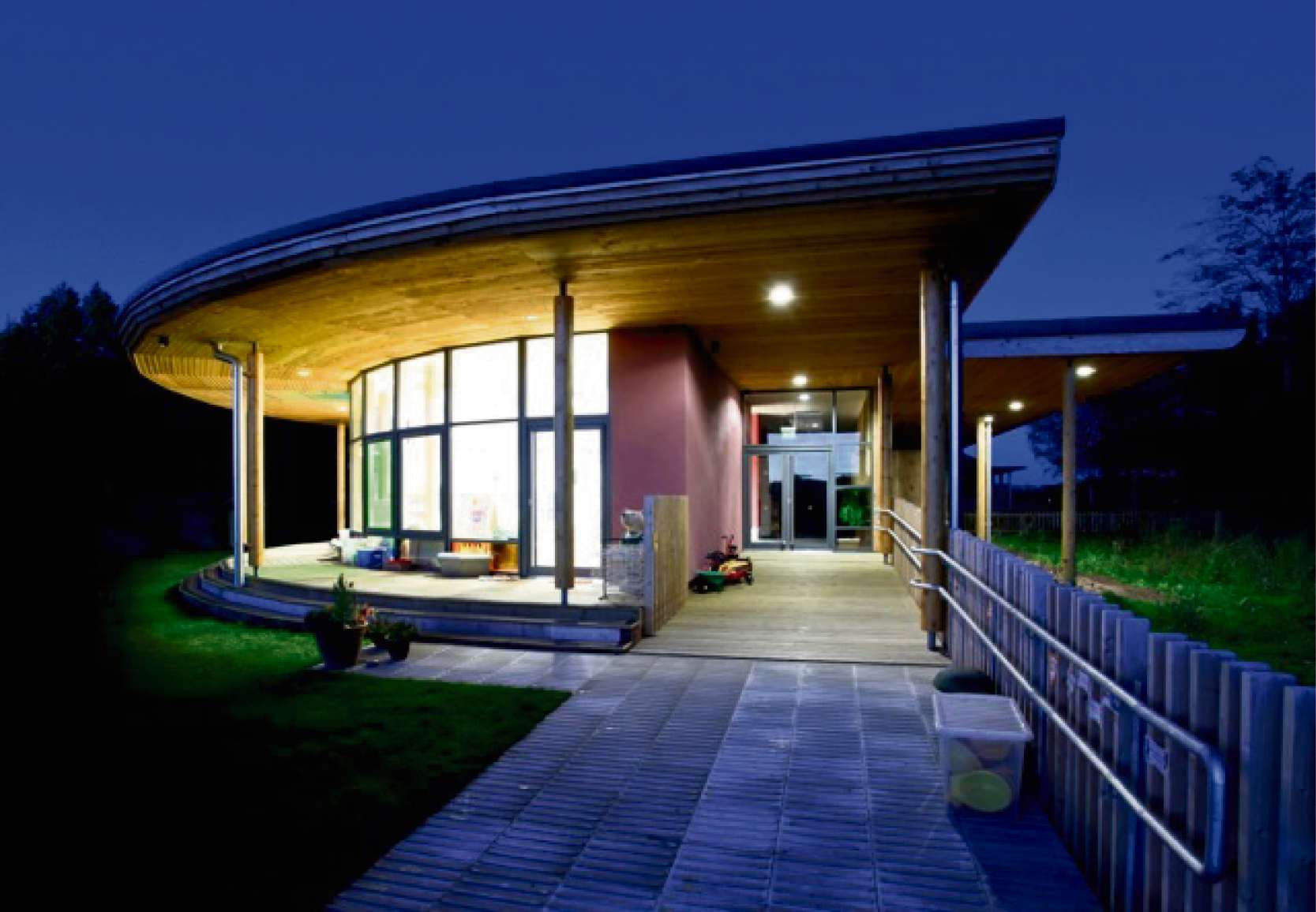 With an open plan and glass walls, Ashperton Primary Academy is designed to maximise its rural surroundings.