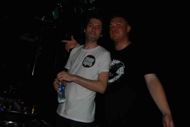 DJ Dex (right) and Monumental's final headline act Ed Solo