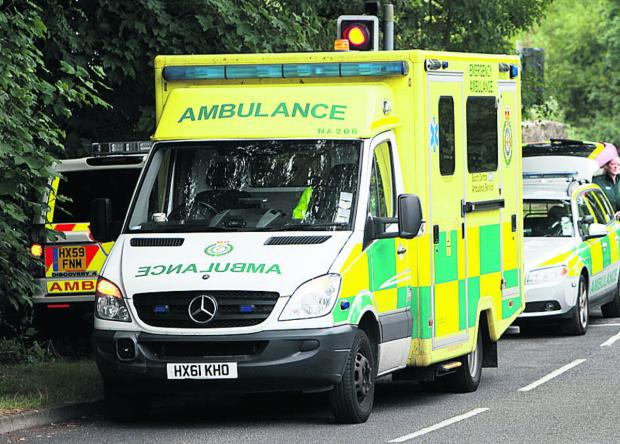Woman cut out of vehicle following collision