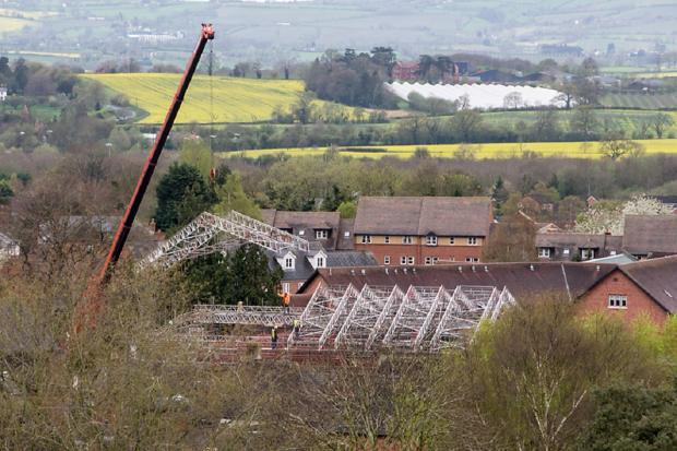 Ledbury Reporter: GIANT: The crane on site