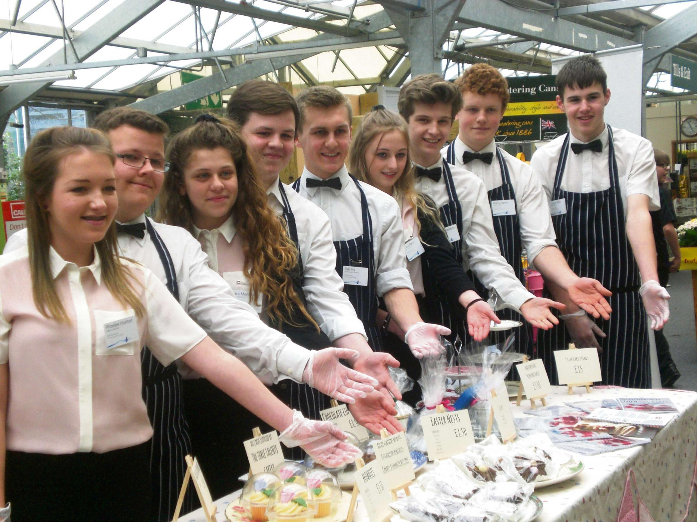 Students from St Mary's R C High School are taking part in the National Young Enterprise competition.