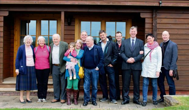 Visitors from Strömstad in Sweden with Ledbury MP Bill Wiggin (third from right). Picture by Andy Ward.