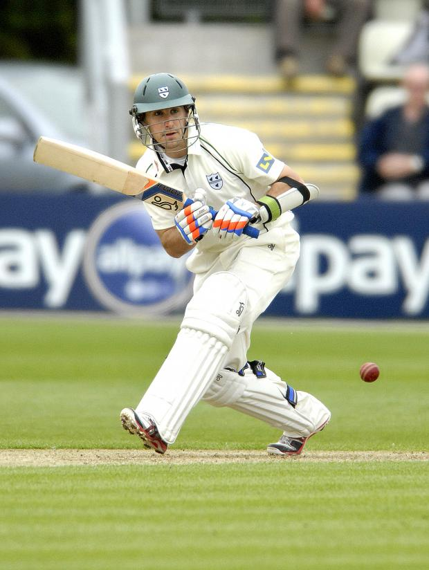 Ledbury Reporter: Nick Toogood - 09/05/12. Worcestershire v Surrey. Day one of the LV County Championship at New Road. DARYL MITCHELL. (5677395)