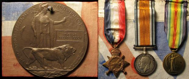 Ledbury Reporter: The medals that are up for auction.