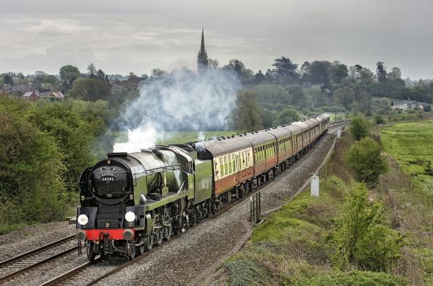 Ledbury Reporter: The engine that will be passing through Hereford on Saturday
