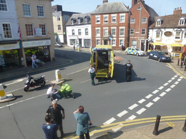 Ledbury Reporter: Changes were made earlier this year to the spot where King Street and Bridge Street meet in an attempt to prevent further accidents at the black spot.