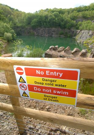 BARRIERS: Safety measures are now in place at Gullet Quarry