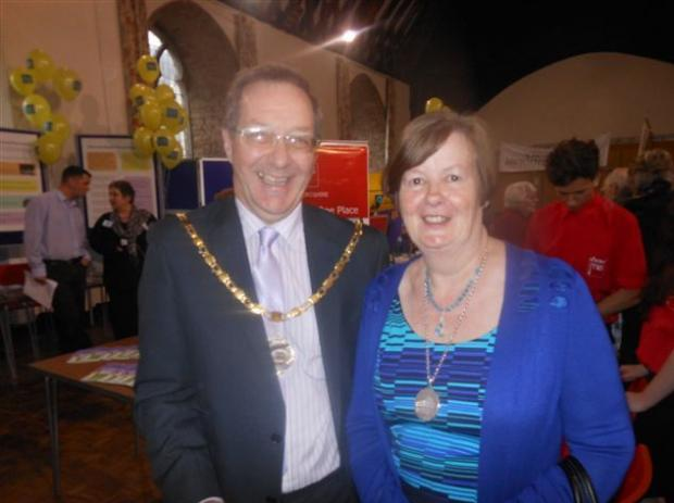 Ledbury's Mayor and Mayoress, Cllr Bo