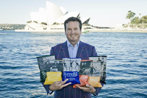 David Milner, CEO of Tyrrells, in Australia. It is the Herefordshire-based business' latest international expansion.