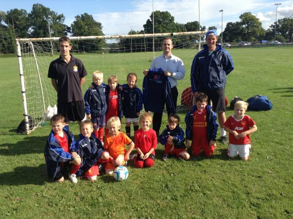 Chris from helping hand with Ledbury swifts under 6's