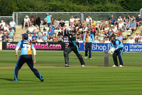 BIG HITTER: Ross Whiteley smashes one of his nine sixes in Rapids' success. Picture: PAUL JACKSON. 3014660901