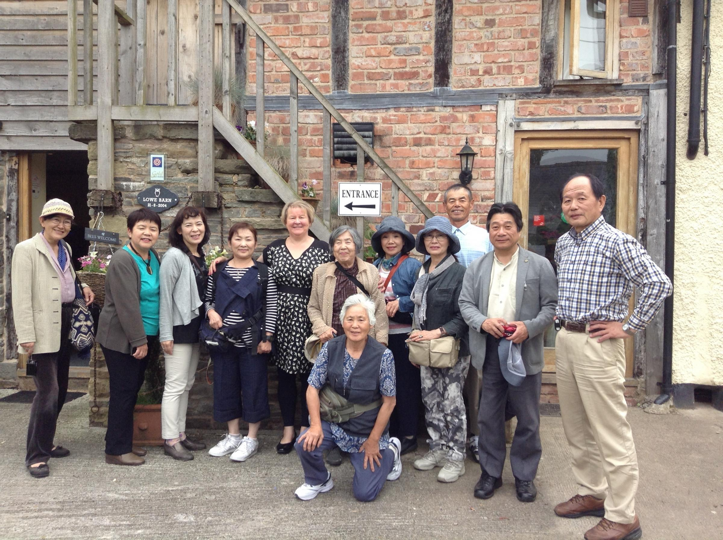 Juliet Williams with the recent group of Japanese visitors.