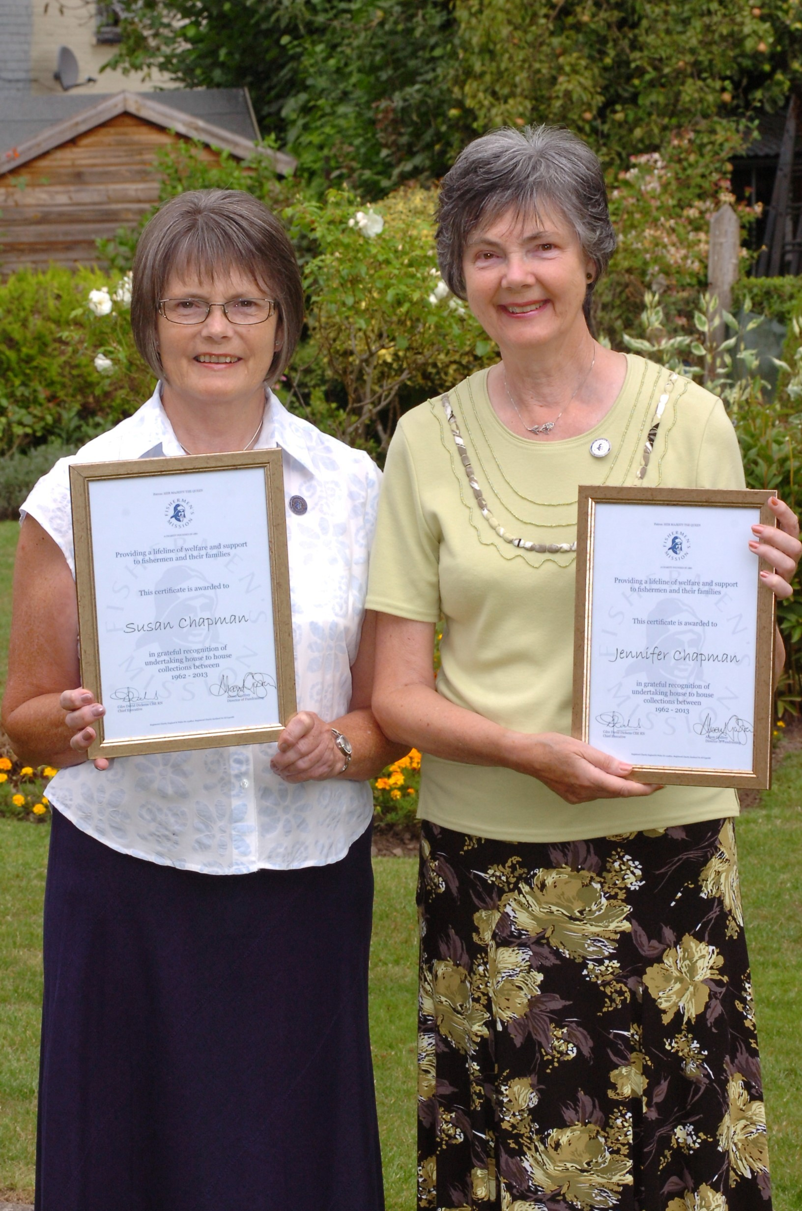Leominster sisters recognised for half a century of charity work