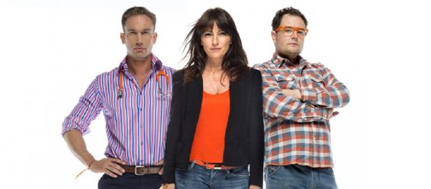 Dr Christian Jessen, Davina McCall and Alan Carr launch the Stand Up To Cancer campaign