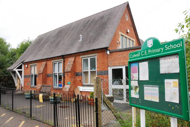 Colwall Primary School, which is closed, with pupils set to relocate to a temporary building to the rear of the Walwyn Road site.
