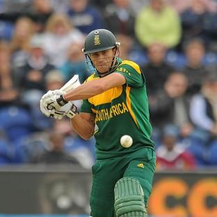South Africa's Faf Du Plessis, pictured, hit o