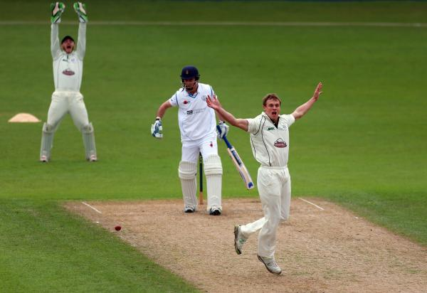 CHARLIE MORRIS: Fifty first-class wickets for the season.