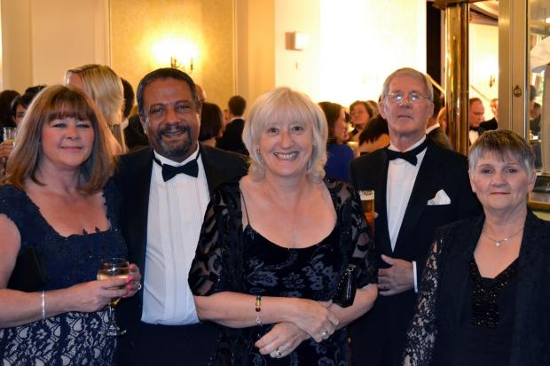 Francine and Adel Makar, consultant urologist with Cherie Taylor and Michael and Margaret Bosson at the urology summer ball