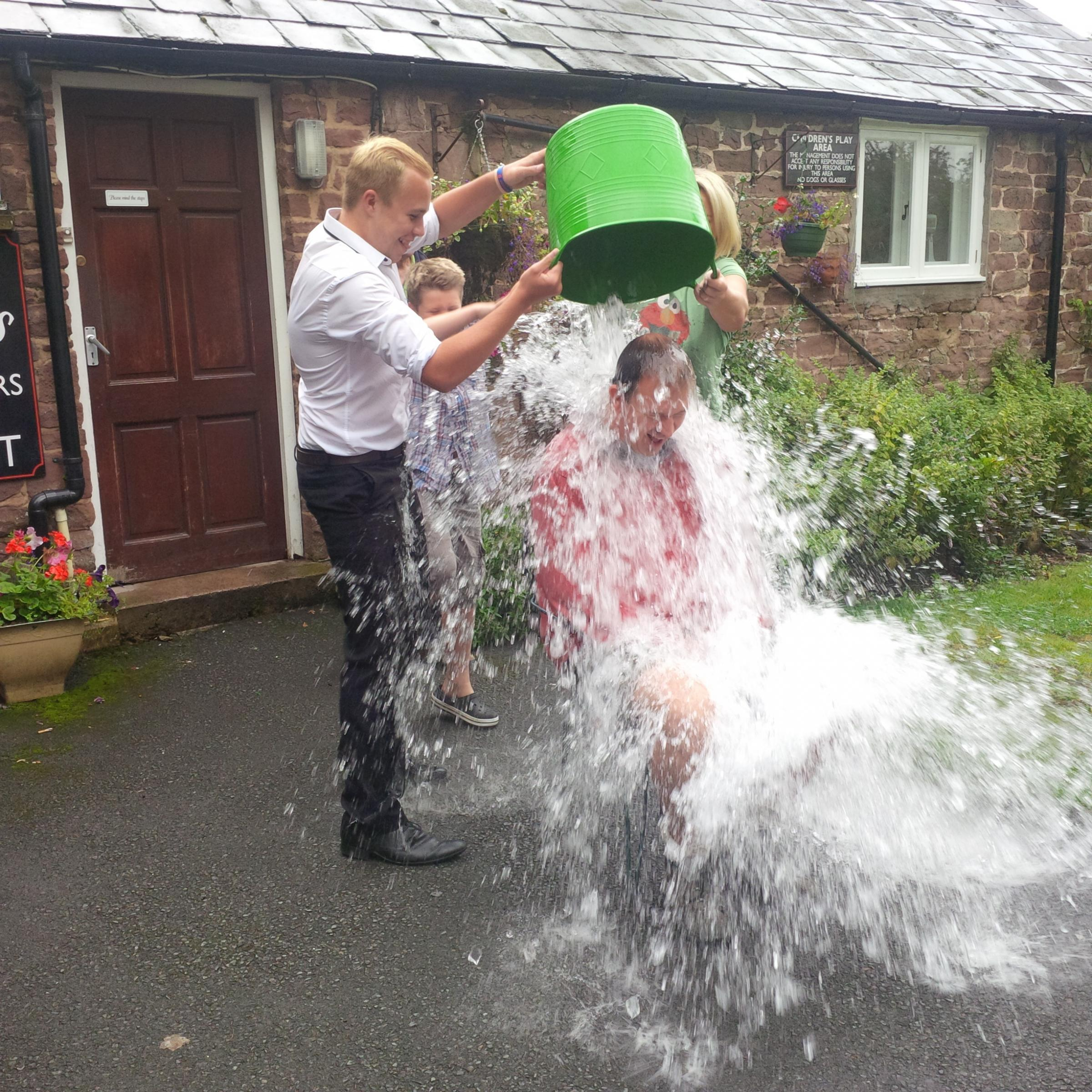 Jesse Norman took part in the ice bucket challenge.