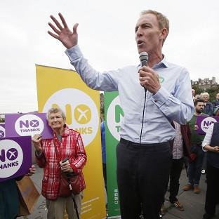 Jim Murphy was hit by an egg while campaigning