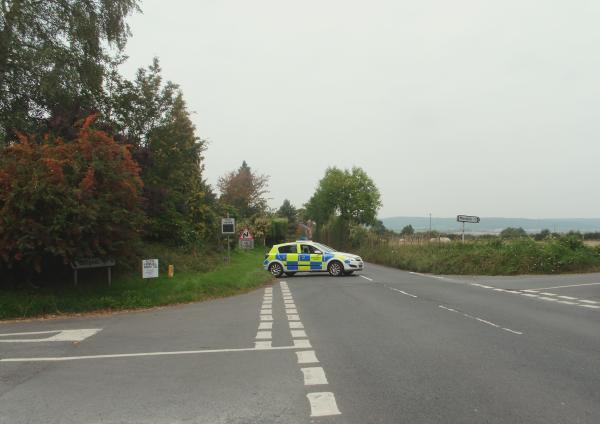 The A4110 is closed following a fatality this afternoon.
