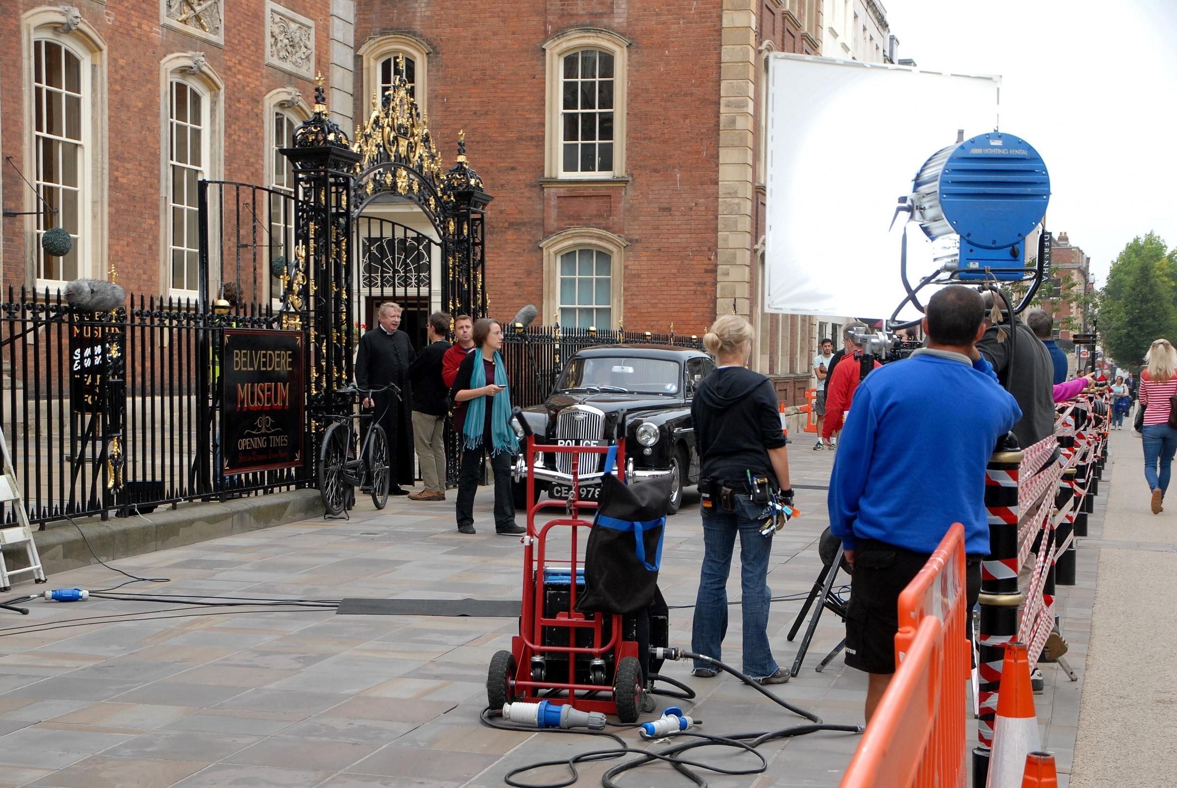 Father Brown films at the Guildhall