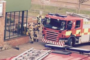 Fire crews called to take part in drill in Worcester this morning