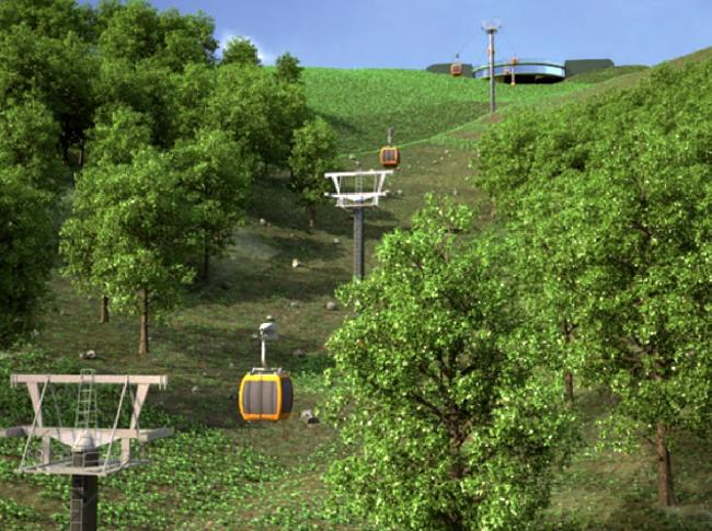 Malvern Hills Cable Car Artists Impression (31941746)